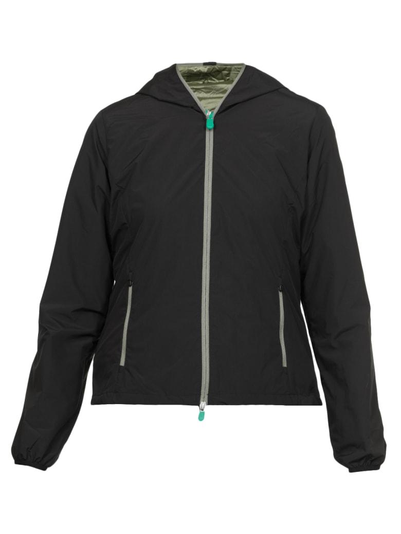 Save the Duck Colour Block Down Jacket - BLACK