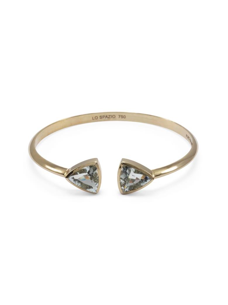 Lo Spazio Jewelry Lo Spazio Aqua Marine Bangle - Light_Blue