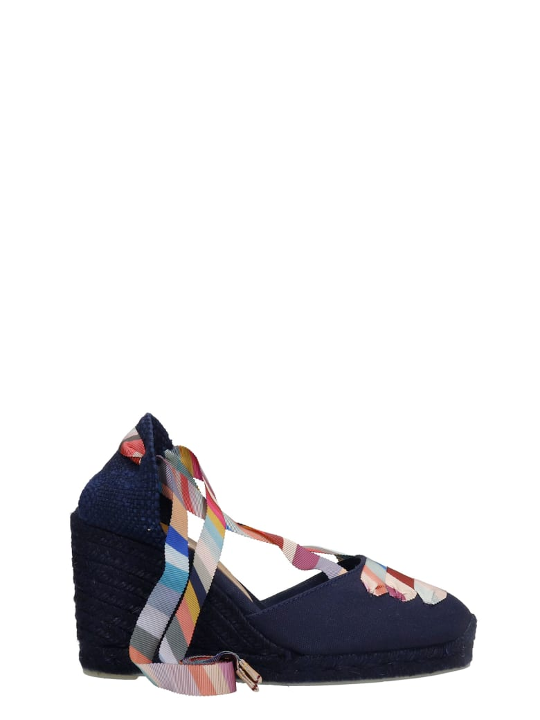 Castañer by Paul Smith Coralia C Ps  Wedges In Blue Canvas - blue