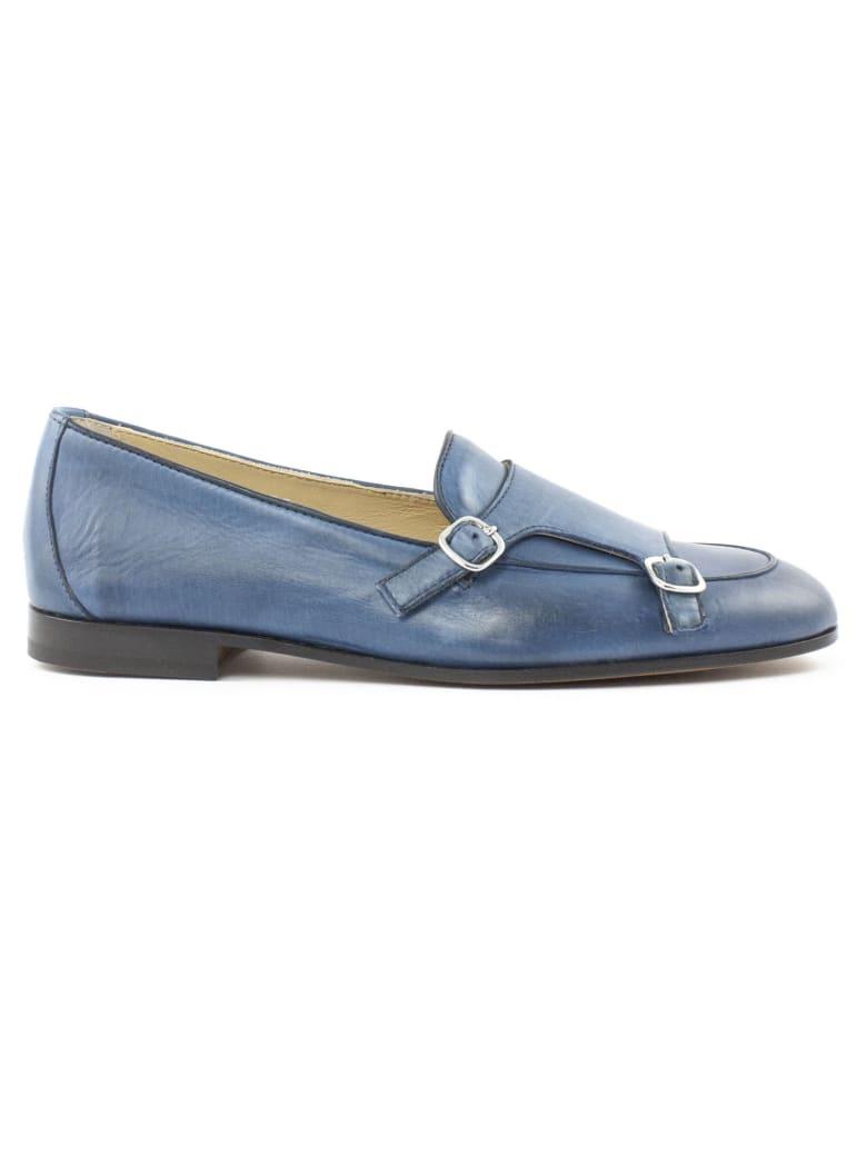 Doucal's Light Blue Leather Loafer - Avion