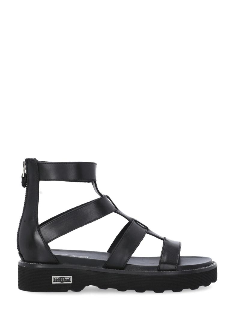 Cult Leather Ziggy Sandal - BLACK