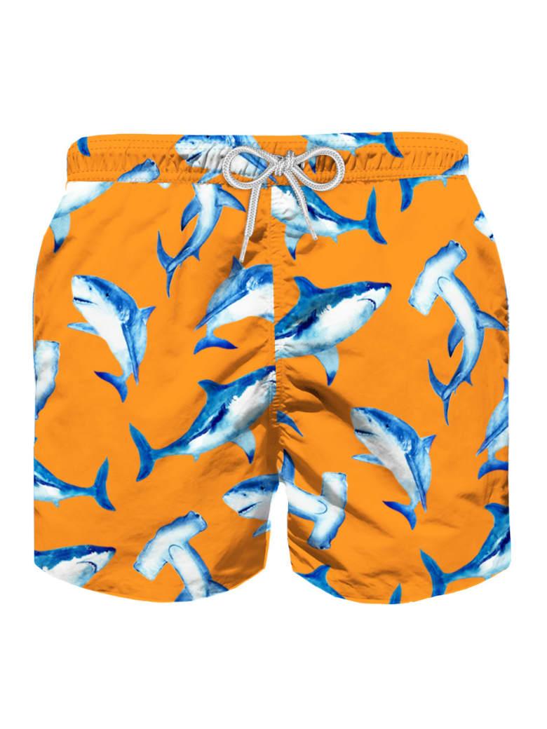 MC2 Saint Barth Shark Print Boy's Light Swim Trunks