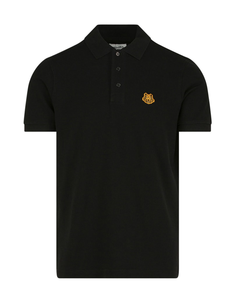 Kenzo 'tiger Crest' Polo - Black
