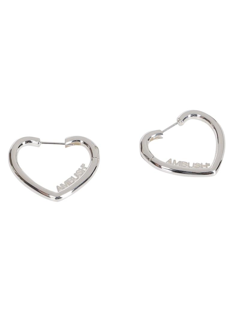 AMBUSH Silver-tone Steel Earrings - SILVER