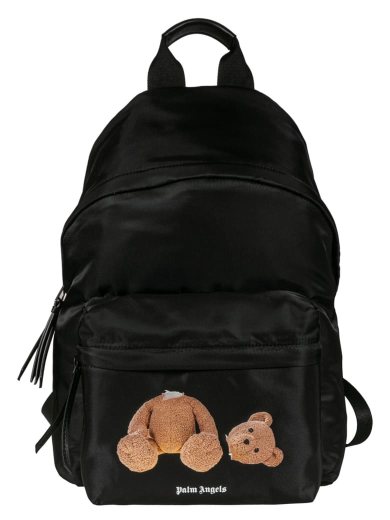 Palm Angels Bear Backpack - Black Brown