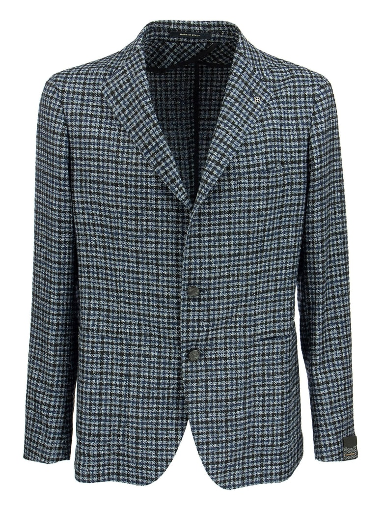 Tagliatore Checked Jacket - Blue