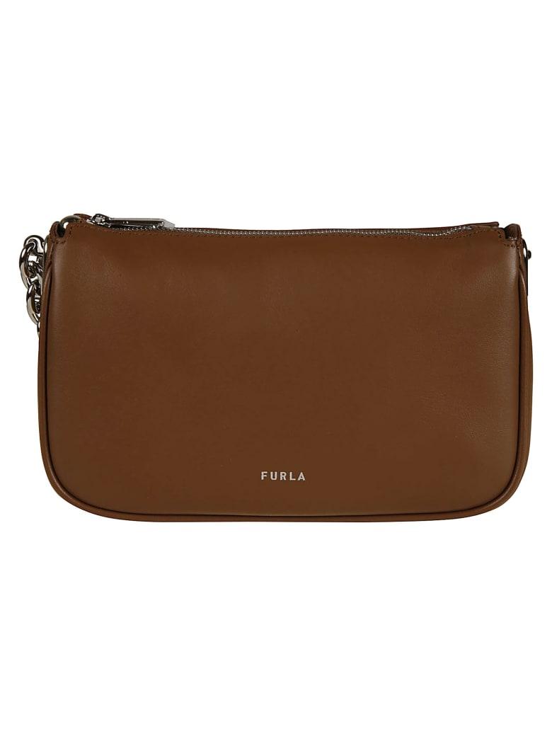 Furla Top Zipped Chain Shoulder Bag - Cognac