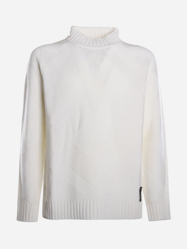 Fendi Cashmere Sweater With Logo Detail - White