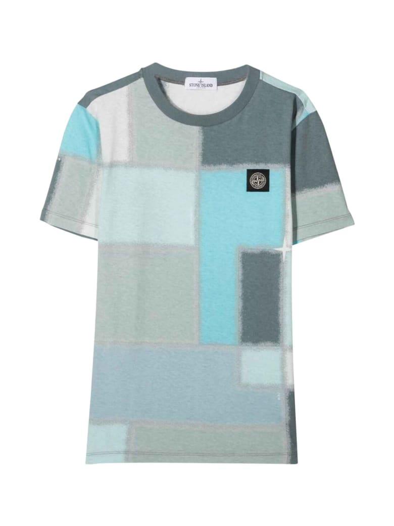Stone Island Junior Light Blue T-shirt - Polvere