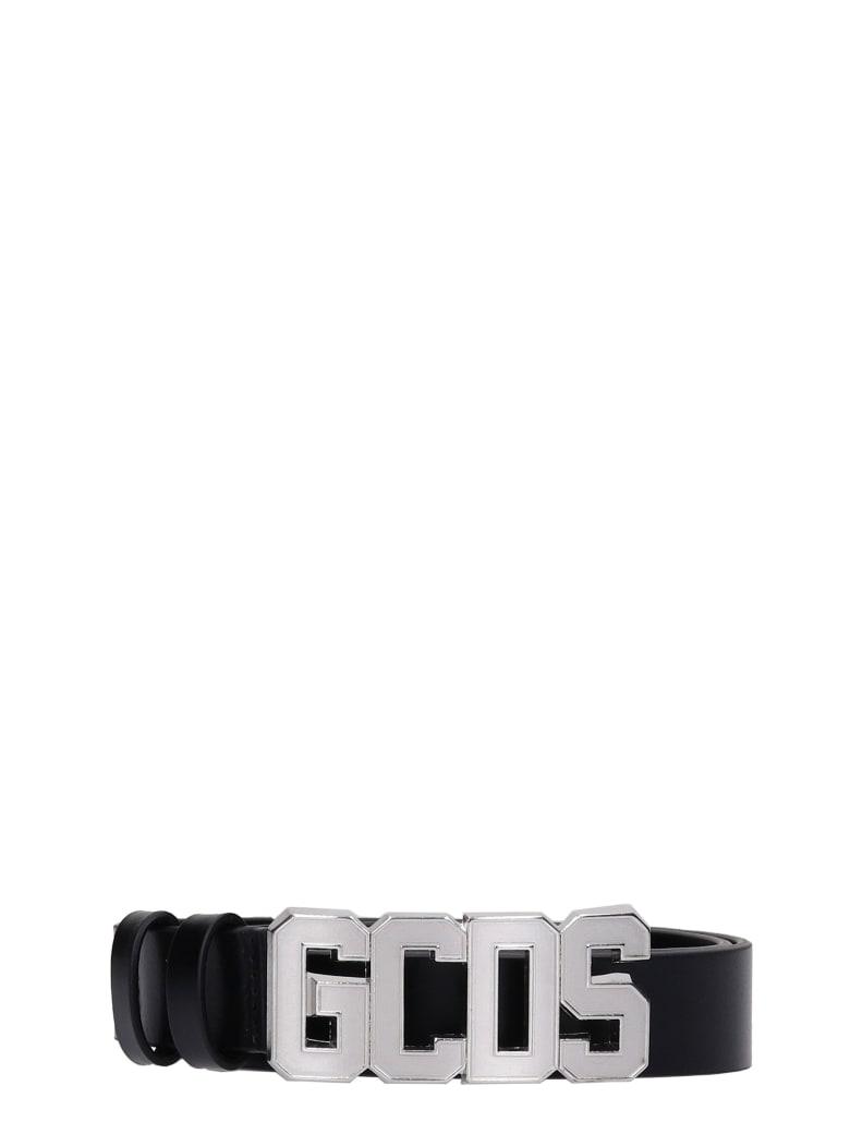 GCDS Belts In Black Leather - black