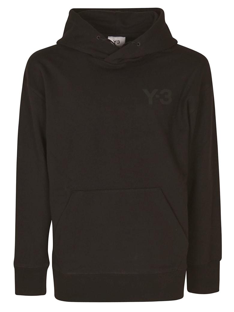 Y-3 Chest Logo Hoodie - Black