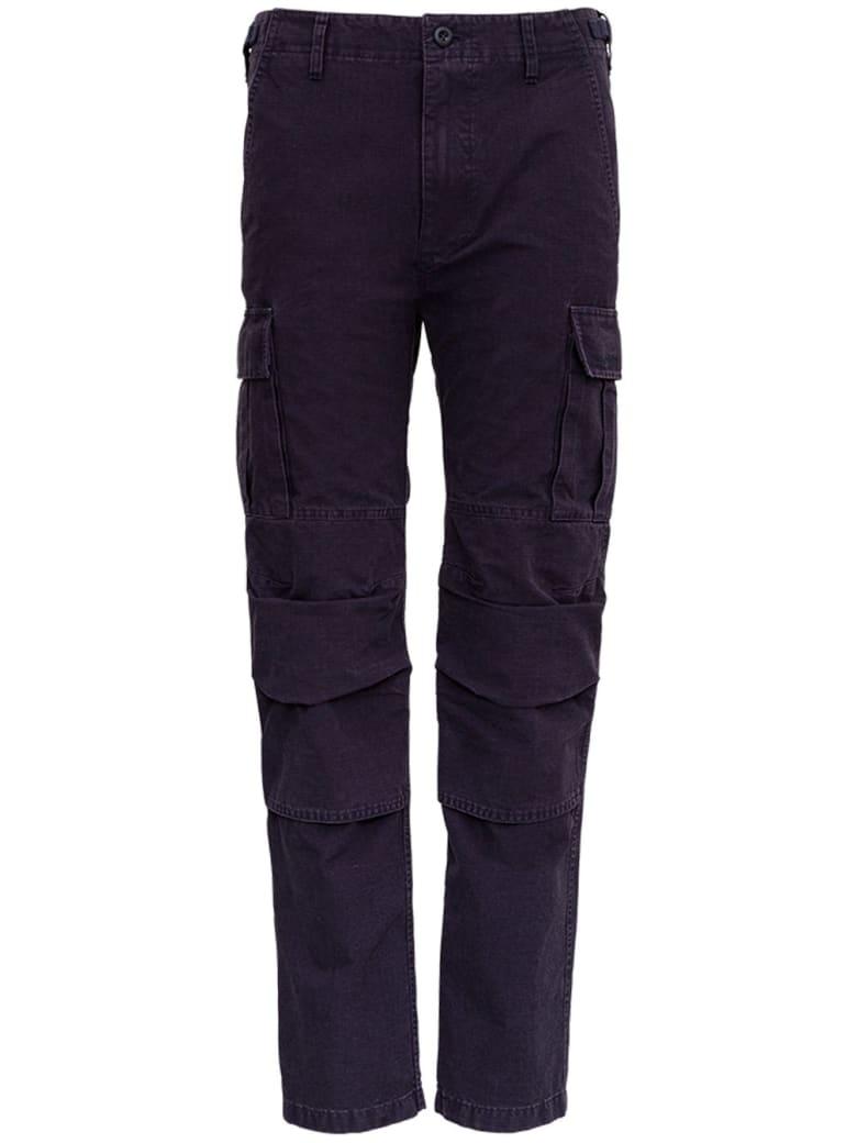 Balenciaga Cargo Pants In Blue Navy Cotton Canvas - Blu