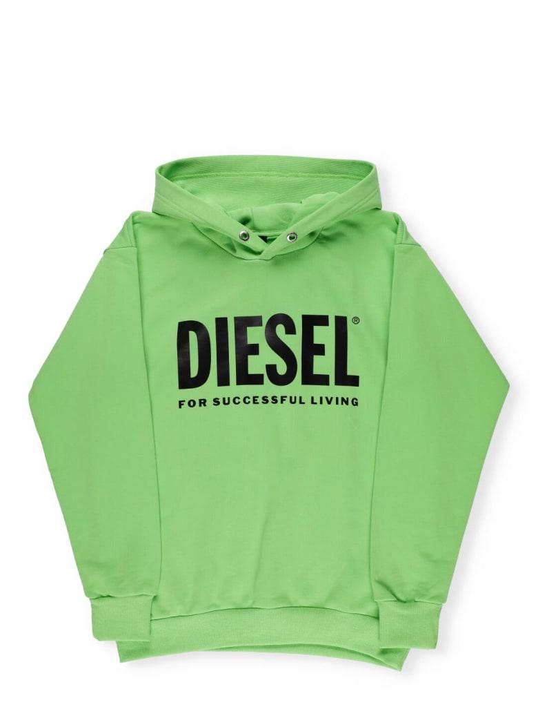 Diesel Logo Hoodie - Green