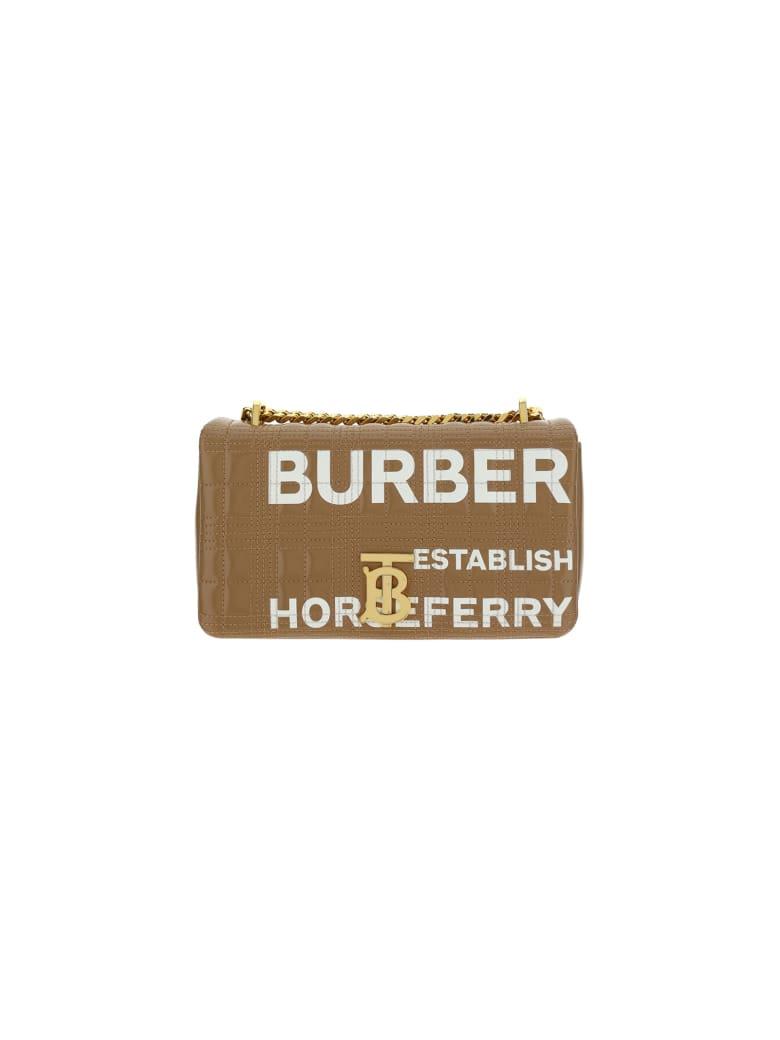 Burberry Sm Lola Shoulder Bag - Camel/white