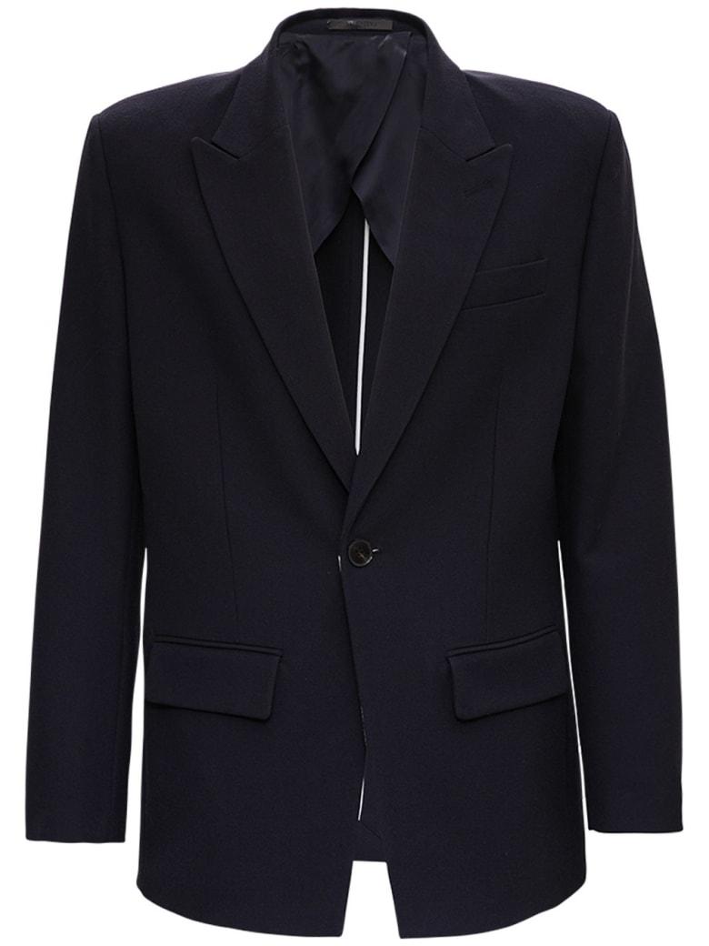Valentino Single-breasted Blue Wool Jacket - Blu