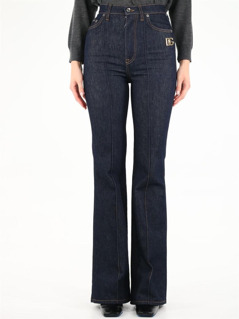 Dolce & Gabbana Blue Flared Jeans - Blue