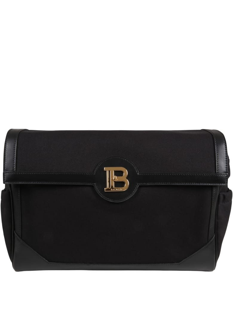 Balmain Black Mum-bag For Babykids With Logo - Black