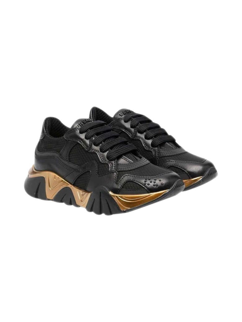 Versace Young Metallic Sneakers - Nero