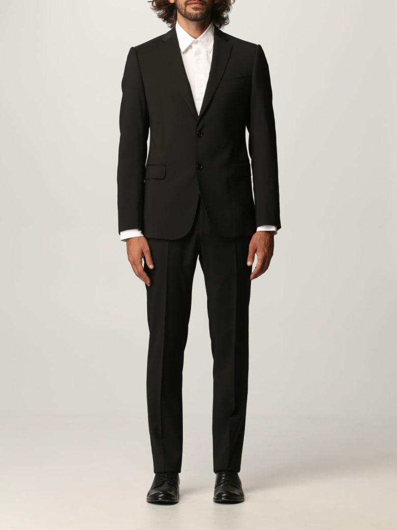 Emporio Armani Suit Emporio Armani Suit In Virgin Wool - Black
