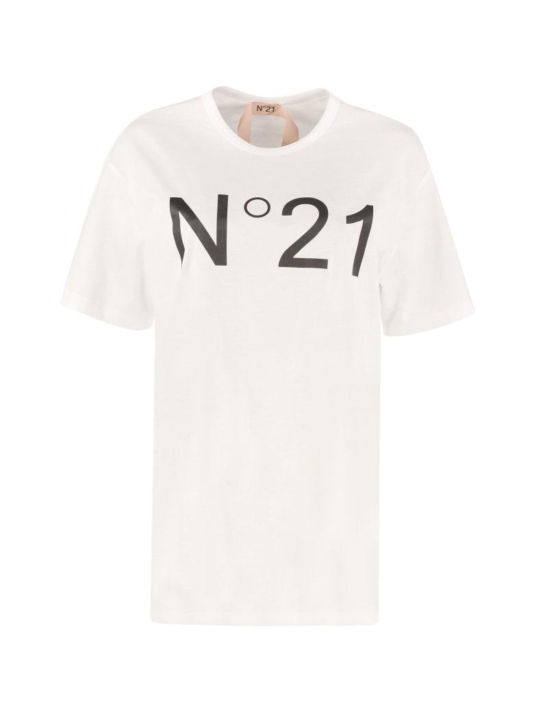 N.21 Cotton Crew-neck T-shirt - Biancoottico