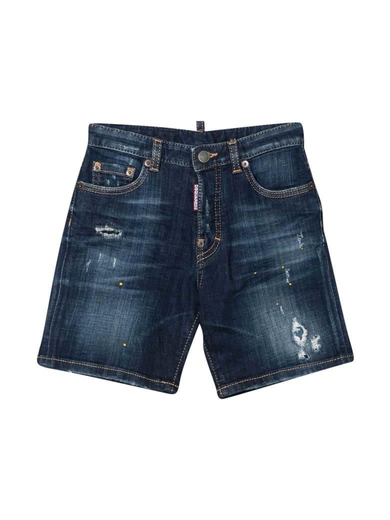 Dsquared2 Blue Denim Shorts Teen Dsquared2 K - Unica