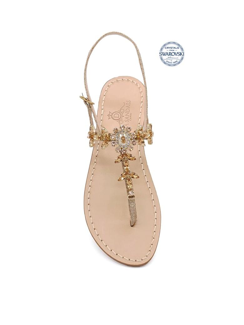 Dea Sandals Marina Grande Flip Flops Thong Sandals - amber