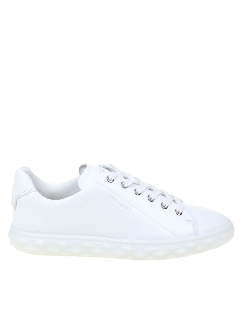 Jimmy Choo Diamond Light / F Sneakers In Nappa - White