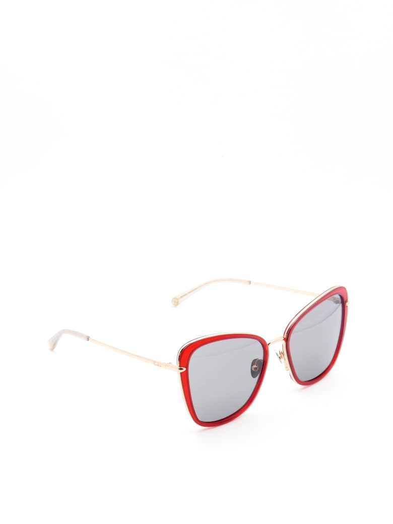 Pomellato PM0082S Sunglasses - Red Gold Grey