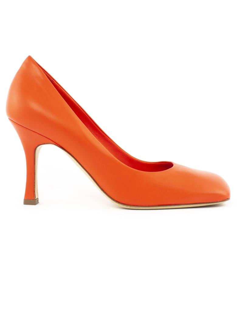 Aldo Castagna Deren Pumps Orange Leather - Corallo