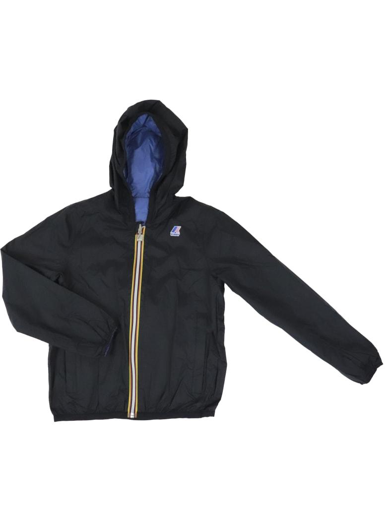 K-Way Jacques Plus Double Jacket - BLACK / BLUE