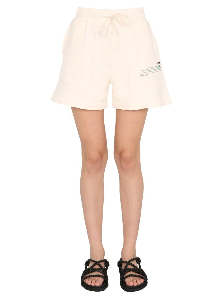 MSGM Cotton Shorts - Bianco