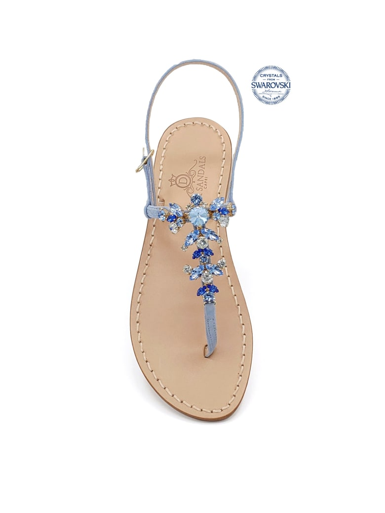 Dea Sandals Scopolo Jewel Thong Sandals - light blue