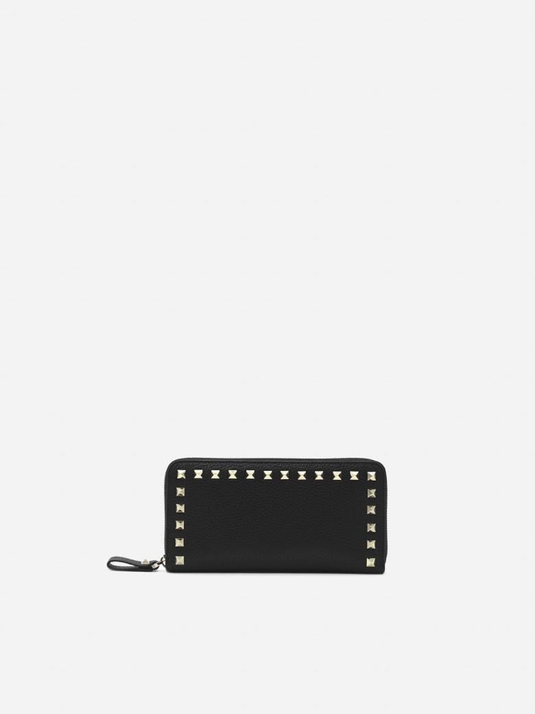 Valentino Garavani Rockstud Leather Wallet - Black