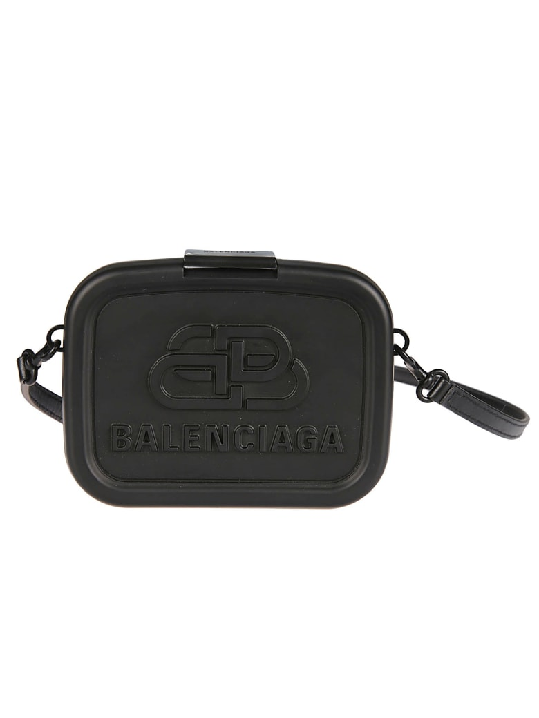 Balenciaga Embossed Logo Shoulder Bag - Nero
