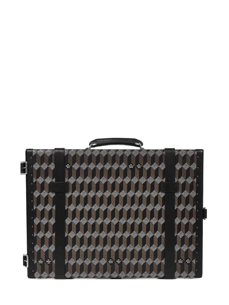 Au Départ Au Depart Paris Ps4 Trunk Suitcase - Brown