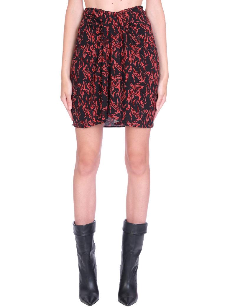IRO Yvan Skirt In Black Viscose - black