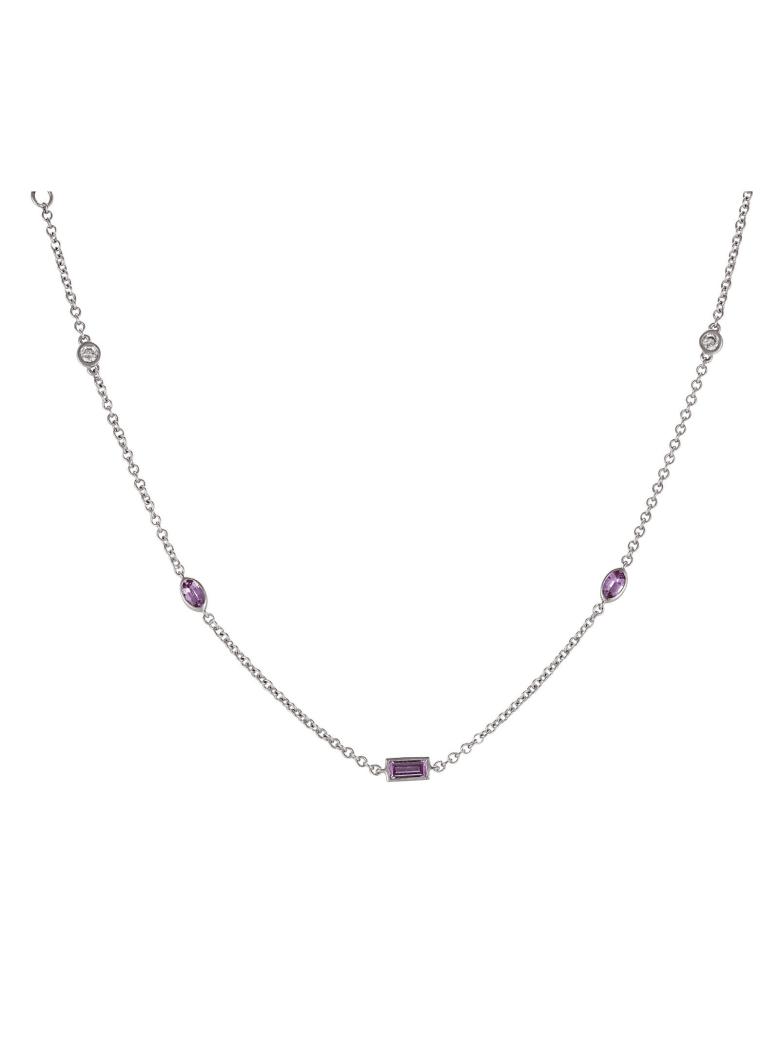 Lo Spazio Jewelry Lo Spazio Pink Sapphire and Diamond Necklace - Pink