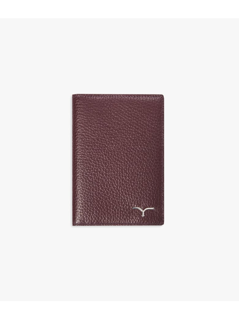 "Larusmiani Passport Cover ""concorde"" - burgundy"