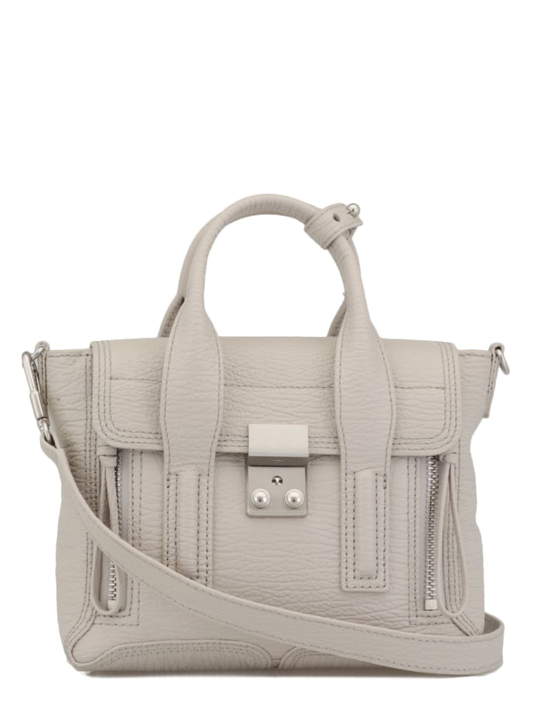 3.1 Phillip Lim Pebbled Leather Bag - FEATHER