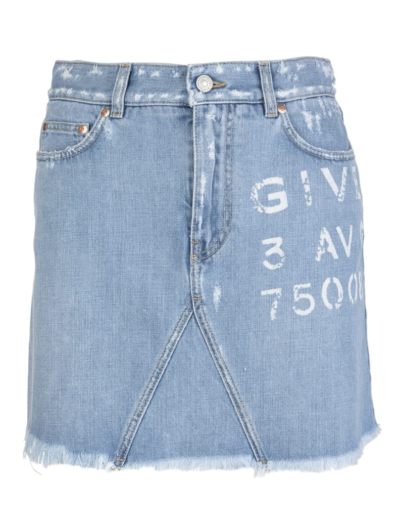 Givenchy Atelier Delave' Blue Mini Skirt