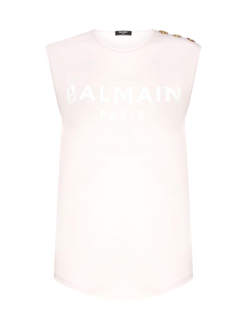 Balmain Top - Rose blanc