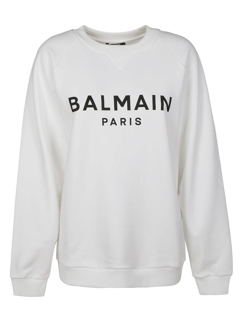 Balmain Oversized Logo Sweatshirt - White/Black