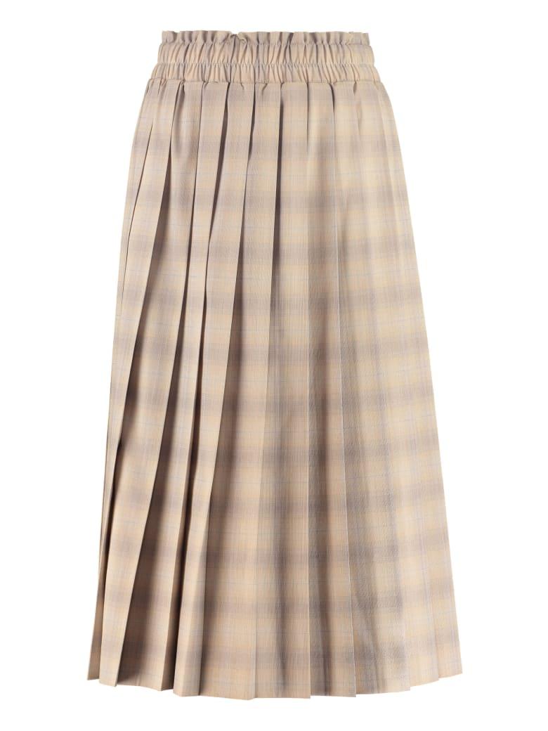 Baum und Pferdgarten Check Pleated Skirt - Beige