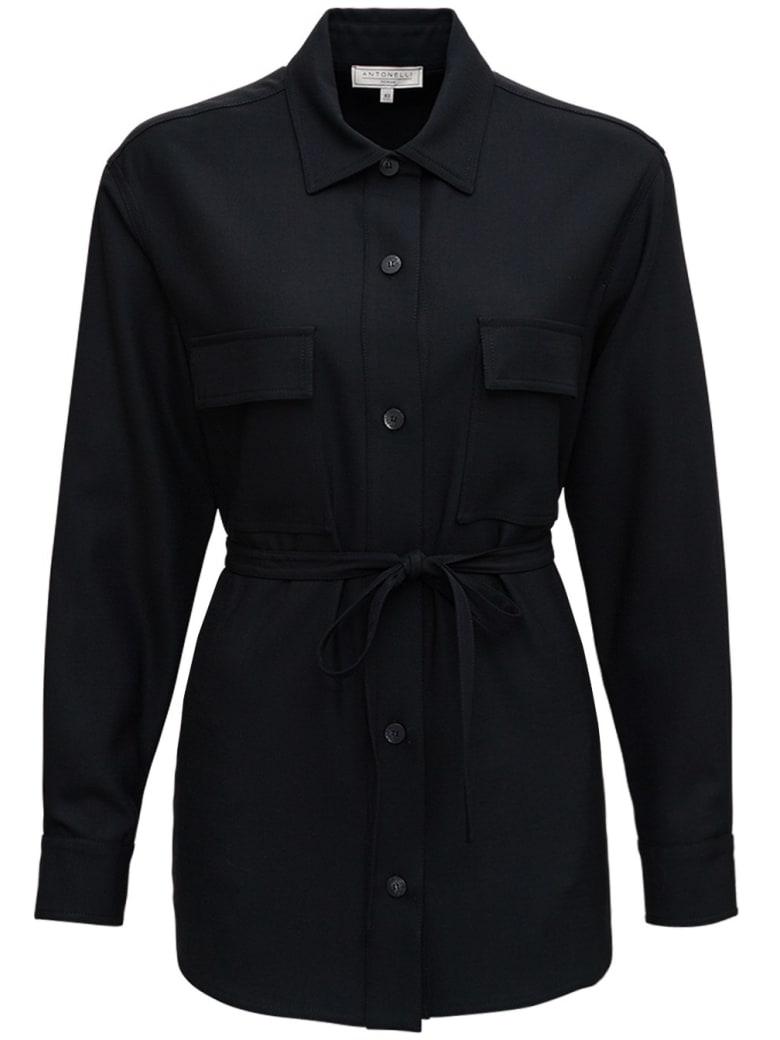 Antonelli Cloe Jacket In Black Wool Blend - Black