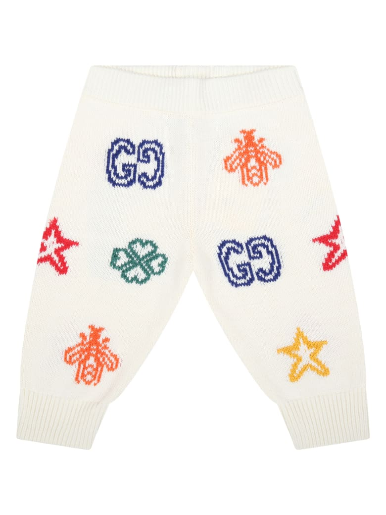 Gucci Ivory Trouser For Babykids - White