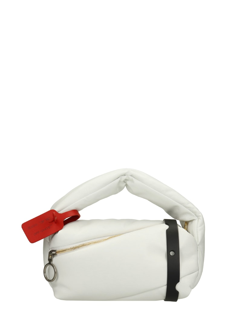 Off-White Hand Bag In White Leather - white