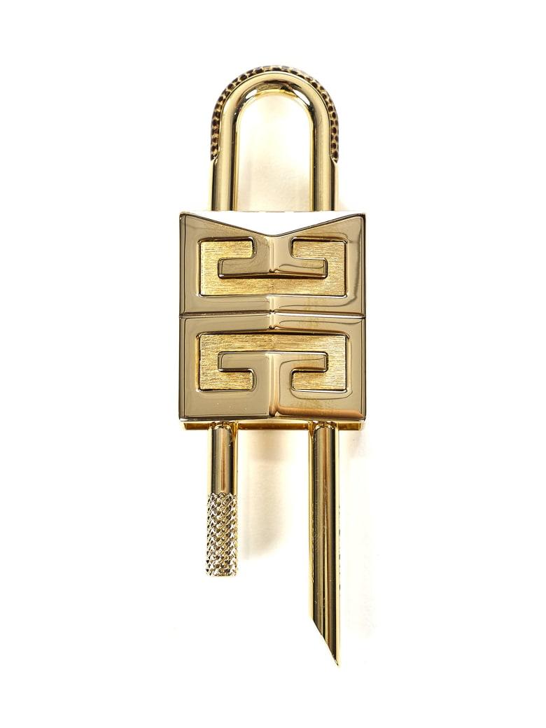 Givenchy Small 4g Padlock Key Ring - Gold