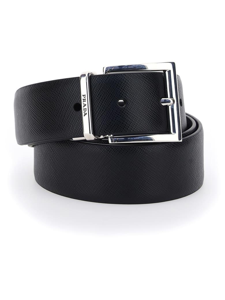 Prada Belt - Nero+baltico