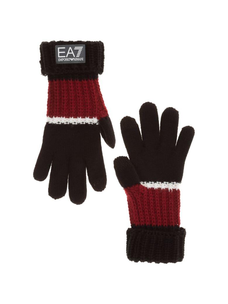 EA7 Emporio Armani Ea7 Eagle Gloves - Nero