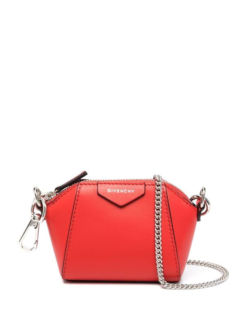 Givenchy Red Baby Antigona Bag With Chain